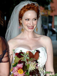 Christina Hendricks Marries in New York