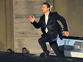 Tom Cruise Races Across Rooftops in Austria