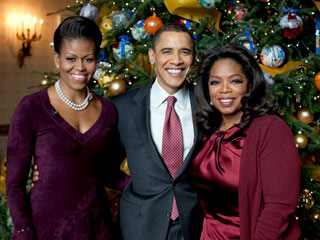 FIRST LOOK: Oprah's Christmas with the Obamas