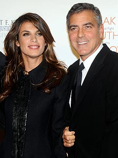 George Clooney 50th Birthday, Dinner with Elisabetta Canalis in L.A.