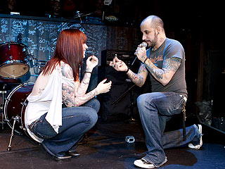 Backstreet Boy A.J. McLean Proposes on Stage