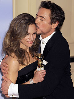 Robert Downey Jr.&#39;s Wife Impressed by His Off-the-Cuff Globes Speech