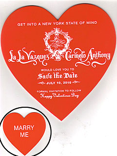 PHOTO: LaLa Vazquez & Carmelo Anthony's Wedding Save-the-Date Card