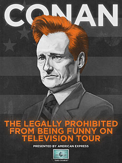 Conan O'Brien Taking His 'Prohibited' Act on the Road