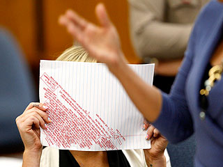 PHOTO: Lindsay Lohan's Meticulous Courtroom Notes