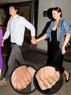 Newlyweds Orlando Bloom and Miranda Kerr Show Off Wedding Bling