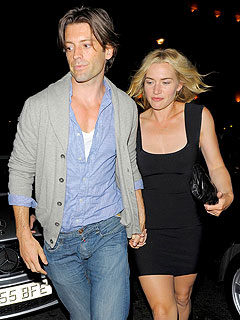 Kate Winslet Happily Shows Off Her New Model Man
