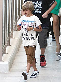 Romeo Beckham Celebrates 8th Birthday Lakers-Style