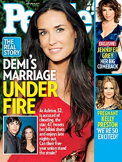 Demi Moore and Ashton Kutcher Defy Talk of Marriage Trouble