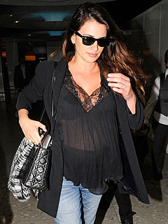 Penélope Cruz Shows Off Baby Bump in London