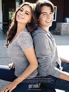 See Sofia Vergara and Her Son's 'Got Milk?' Ad