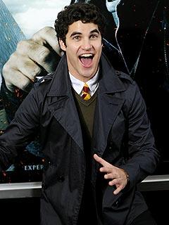 Darren Criss Celebrates Glee Role at Harry Potter Premiere