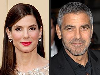 Sandra Bullock, George Clooney in Gravity