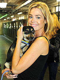 Denise Richards Helps Save 30 Death-Row Dogs