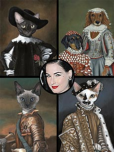 Star Style: Dita Von Teese's Regal Pet Portraits