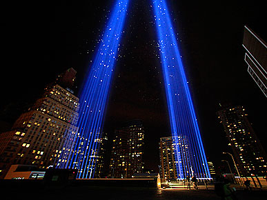 The Water Bowl: Birds Trapped by 9/11 Tribute Lights; Plus, Kaley Cuoco Falls from Horse