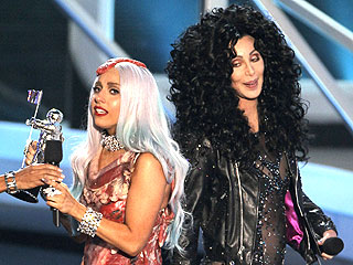 Lady Gaga Sings for Cher (and Her Fans) at the VMAs