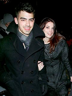 Joe Jonas & Ashley Green Snuggle over Dinner