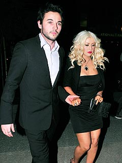 Christina Aguilera's Double Date Night