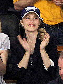 Rachel McAdams Cheers Wildly at a Hockey Game
