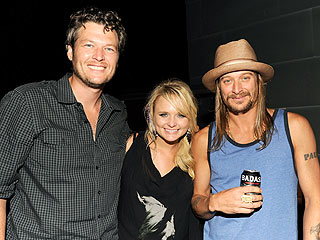 Miranda Lambert & Blake Shelton Sneak in Some Alone Time at Kid Rock's Bash