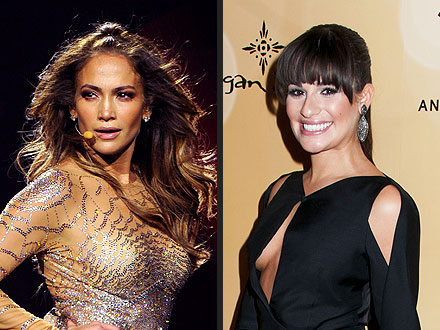 Lea Michele Cheers On J.Lo in Concert