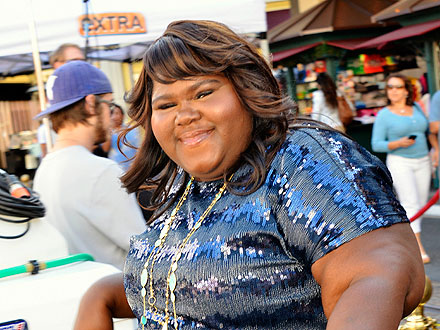Gabourey Sidibe Enjoys Fan Attention (and Martinis) in West Hollywood