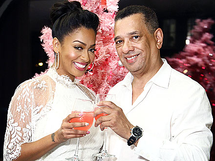 La La Anthony & Her Dad Get Mani-Pedis