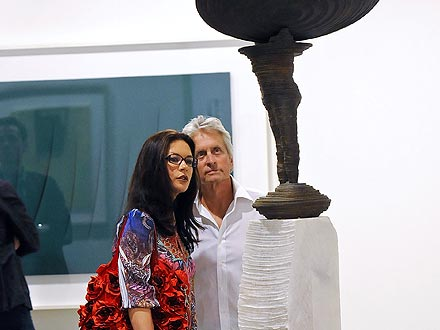 Catherine Zeta-Jones & Michael Douglas Check Out Miami's Art Scene