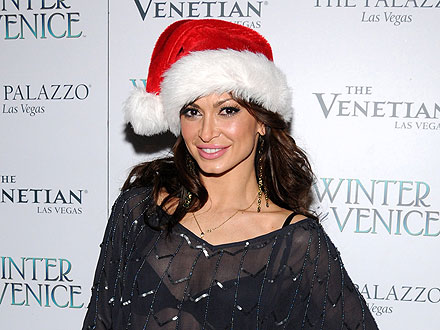 Karina Smirnoff Gets into the Holiday Spirit in Vegas