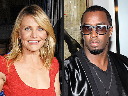 Cameron Diaz & Diddy Get 'Affectionate' at Rooftop Bash | Cameron Diaz, Sean P. Diddy Combs