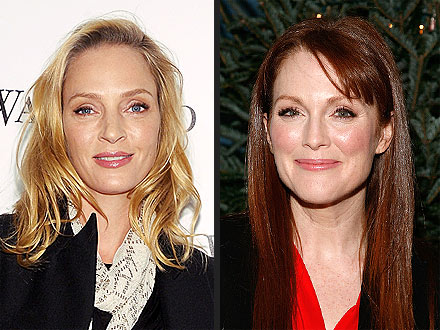 Julianne Moore & Uma Thurman Party Together in N.Y.C.