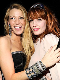 Blake Lively Checks Out a Florence + the Machine Concert