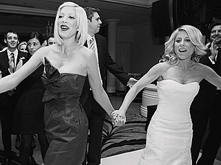 Tori Spelling Is a Bridesmaid at Best Friend's Wedding