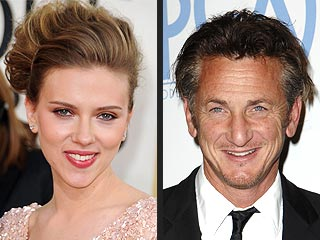 Scarlett Johansson & Sean Penn 'All Smiles' at Italian Feast with Friends