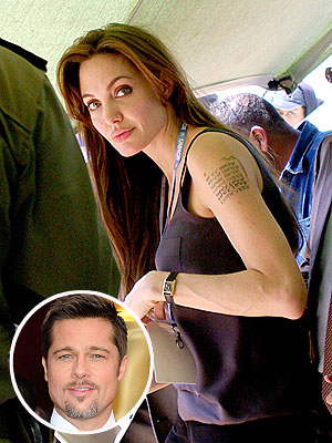 Angelina Jolie New Tattoo for Brad Pitt?