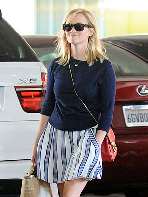 Reese Witherspoon Returns from Her Honeymoon