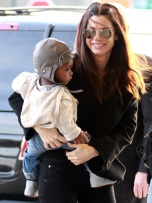 Sandra Bullock & Son Louis Pictures