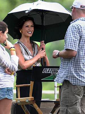 Catherine Zeta-Jones Is Back to Work with a Smile