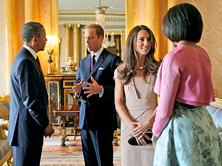 Michelle Obama, Barack Obama Meet Prince William, Kate