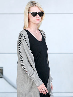January Jones Pregnant and Feeling Great
