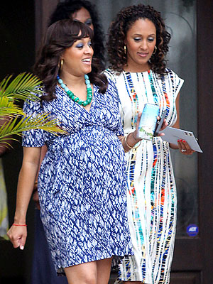 Tia Mowry Celebrates at a Baby Shower