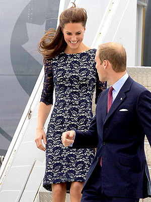 Prince William, Kate Arrive in Canada - What Kate Wore