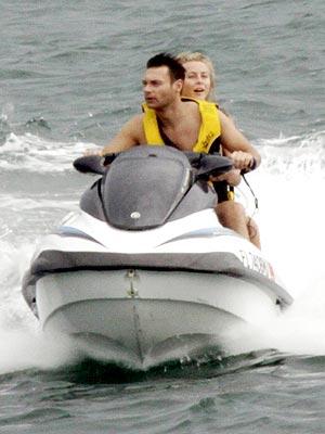 Ryan Seacrest, Julianne Hough Jet Ski in Miami