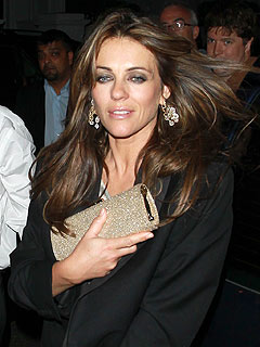 Elizabeth Hurley's Puts on a Poker Face in Las Vegas