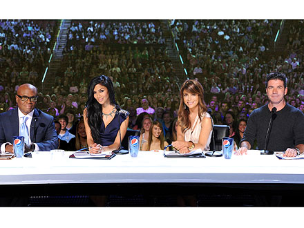 X Factor Judges Simon Cowell, Paula Abdul, Nicole Scherzinger