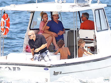 Britney Spears Takes Her Boys (and Boyfriend) on a Boat