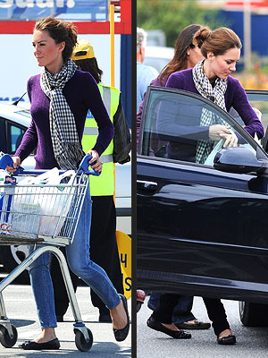 Kate Middleton Style: Recycles Purple Sweater