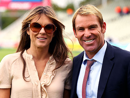 Elizabeth Hurley's Boyfriend Shane Warne Says They're in Love