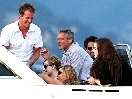 George Clooney, Lake Como Boat Trip Pictures
